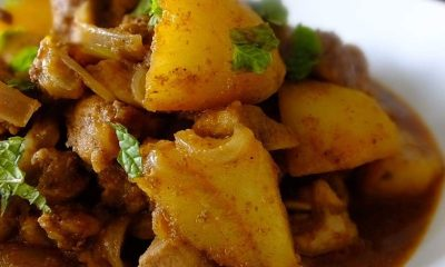 Taste this delicious and nutritious potato curd curry!
