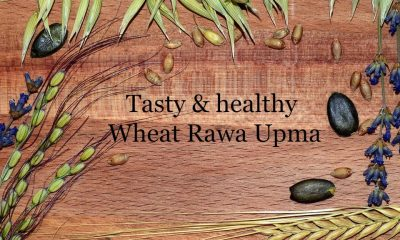 Here's is the recipe for healthy Wheat Rawa Upma
