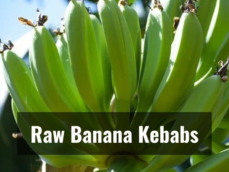 You will love these healthy raw banana kebabs!
