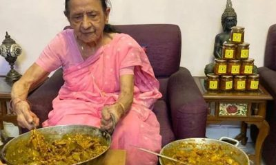 87-yr-old woman sells pickles to support Covid-affected families